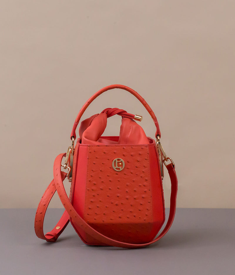 POEII Tulip Bucket Bag Coral