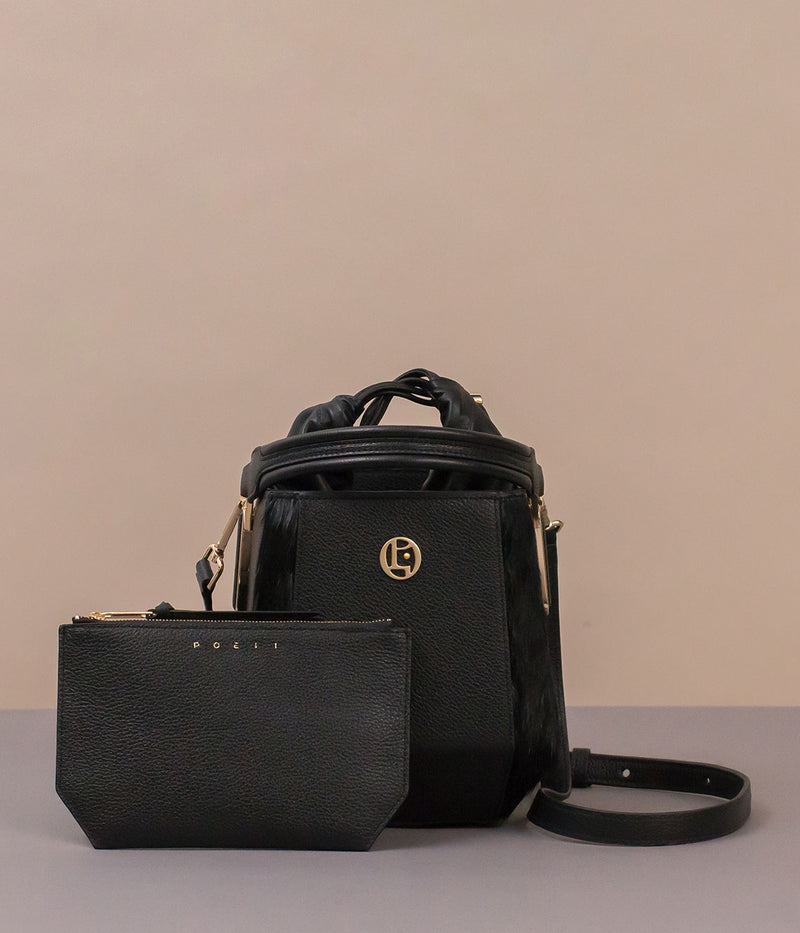 POEII Tulip Bucket Bag Black
