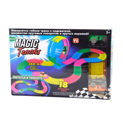 Pista de Juegos Magic Tracks Mega Xtreme Con 2 Carros 5 Mts