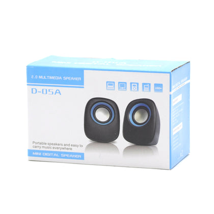 Parlantes Mini Digital D-05A 2.0 Negro