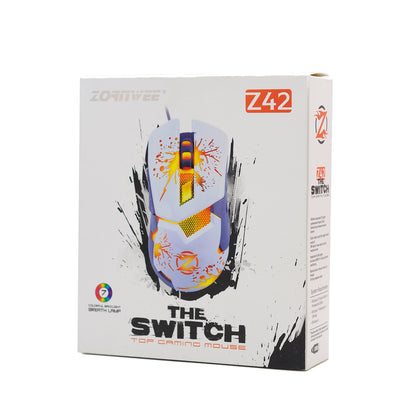 Mouse Backlit Gaming Zornwee Z42 Blanco
