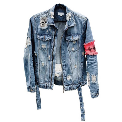 PULSE DISTRESSED DENIM JACKET