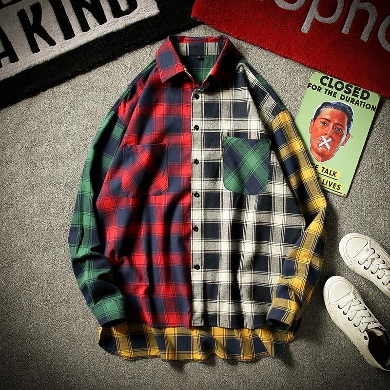 ABSTRACT PLAID SHIRT