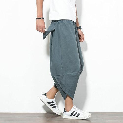 SUMMER HAREM LINEN TROUSERS