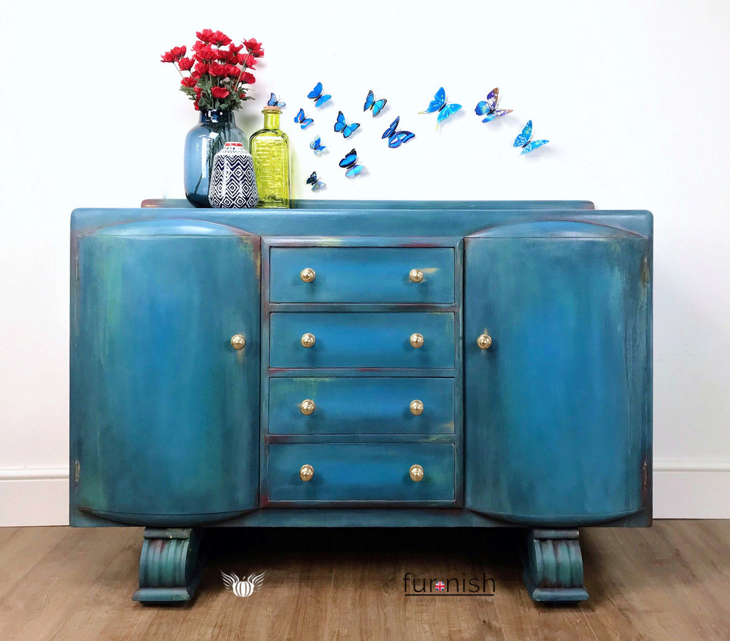 All the Blues Boho Blended Sideboard