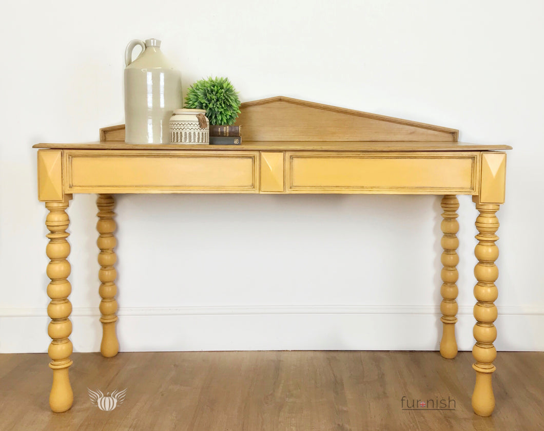 Antique Yellow Console Table / Desk