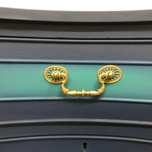 Load image into Gallery viewer, Hand Painted Brights Of Nettlebed Sideboard / Drinks Cabinet in Blue, Green & Gold