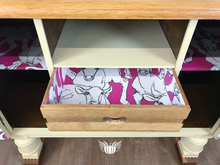 Load image into Gallery viewer, G Plan Sideboard with Decoupaged Cow Interior