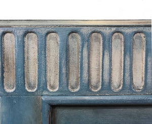 Hand Painted Rustic Layered Sideboard in Blue & Taupe