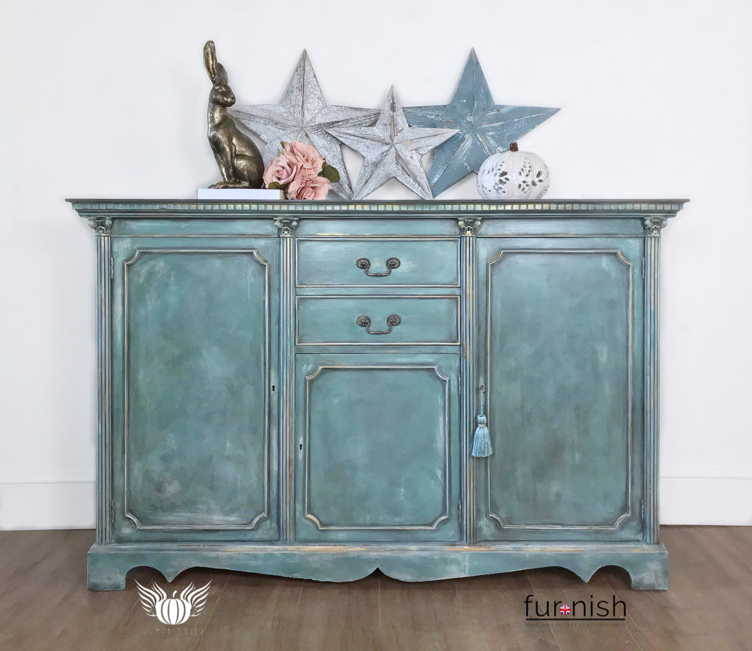 Vintage Blue / Grey Sideboard