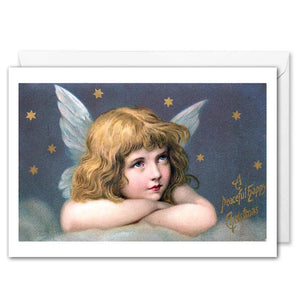 Angel Vintage Christmas Greetings Card For Business