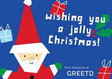 Load image into Gallery viewer, Personalised Santa Christmas Card Business