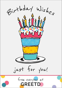 Birthday Cake Business Birthday Card - B2B