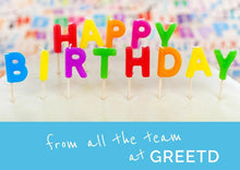 Load image into Gallery viewer, Birthday Candles Card For Business - B2B