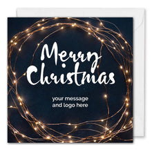 Load image into Gallery viewer, Business Christmas Card - Custom Logo - Client Christmas Card