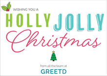 Load image into Gallery viewer, Corporate Christmas Card - Holly Jolly