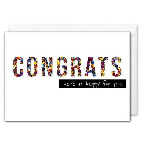Confetti Congrats Card For Business - Employees, Clients