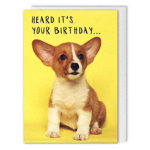 Personalised Dog Birthday Card For Business