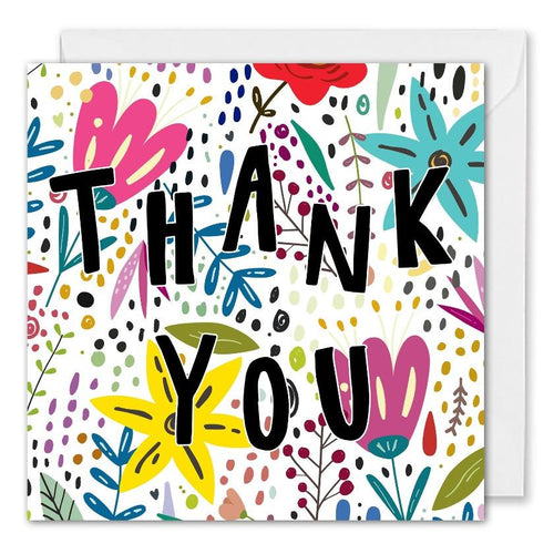 Personalised Flowers Corporate Thank You Card