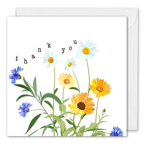 Personalised Business Thank You Card Flowers