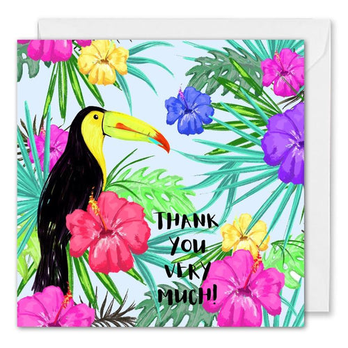 Tropical Thank You Card For Business Personalised