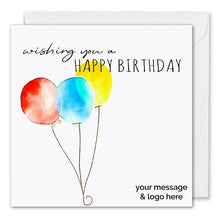 Load image into Gallery viewer, Personalised Corporate Birthday Card Three Balloons