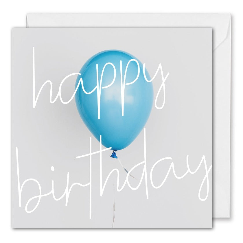 Custom Corporate Birthday Card - Blue Balloon