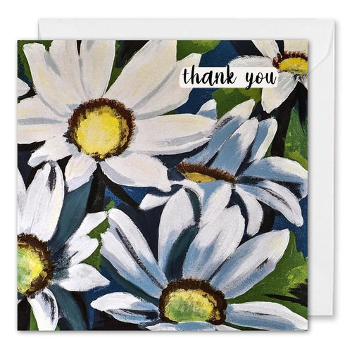 Personalised Corporate Thank You Card Daisy Flowers