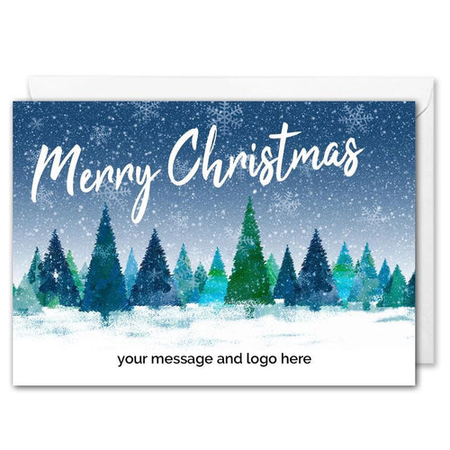Personalised Corporate Christmas Card Winter Forest