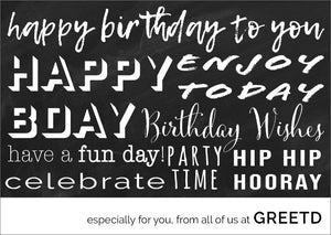 Personalised Corporate Birthday Greetings Card