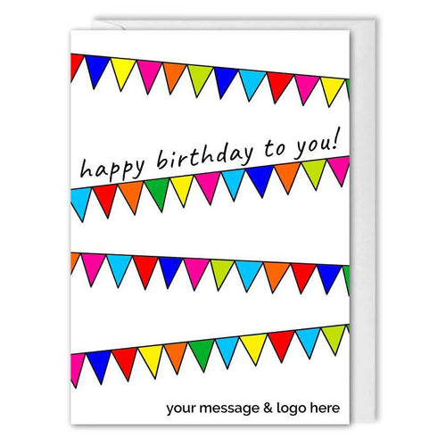 Custom Business Birthday Card - B2B - Birthday Buntings
