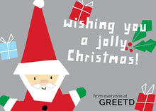 Load image into Gallery viewer, Personalised B2B Christmas Card Santa