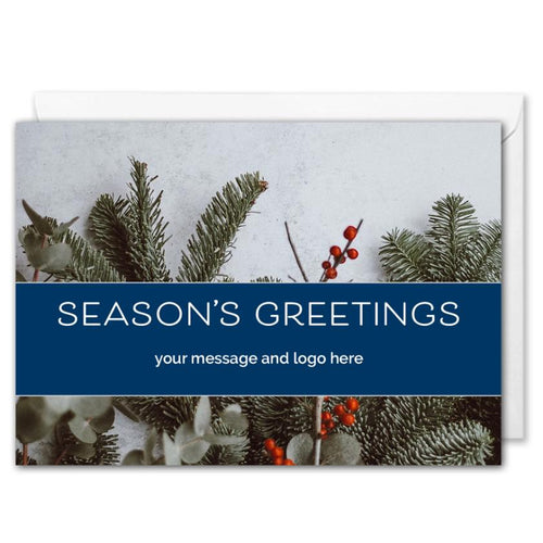 Season's Greetings - Custom Business Christmas Card - Staff, Clients