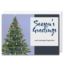 Load image into Gallery viewer, Christmas Tree Corporate Christmas Card - Custom Logo