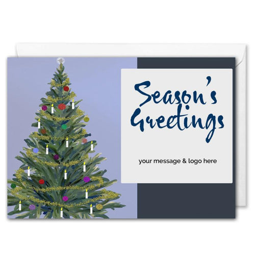 Christmas Tree Corporate Christmas Card - Custom Logo