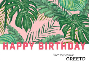 Custom Tropical Birthday Card For Business