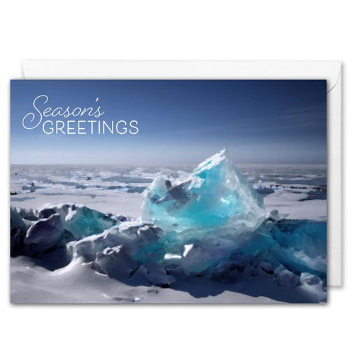 Custom Corporate Christmas Card Arctic Icescape