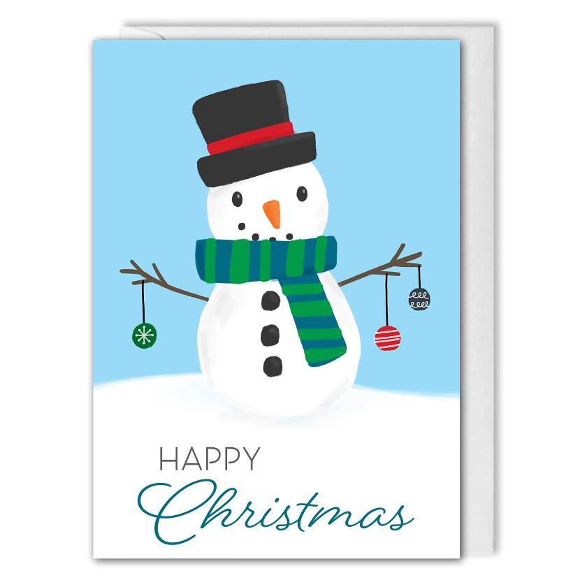 Custom Corporate Christmas Card Festive Snowman