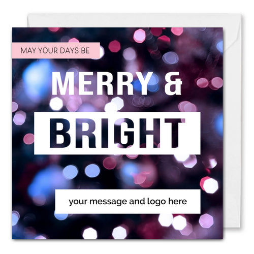 Custom Business Christmas Card - Merry and Bright
