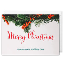 Load image into Gallery viewer, Merry Christmas Card For Business - Custom Logo, Message