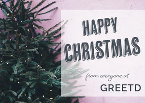 Happy Christmas Corporate Card - Custom Logo - Christmas Tree