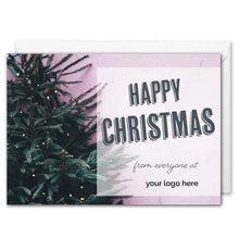 Load image into Gallery viewer, Personalised Logo Business Christmas Card - Christmas Tree