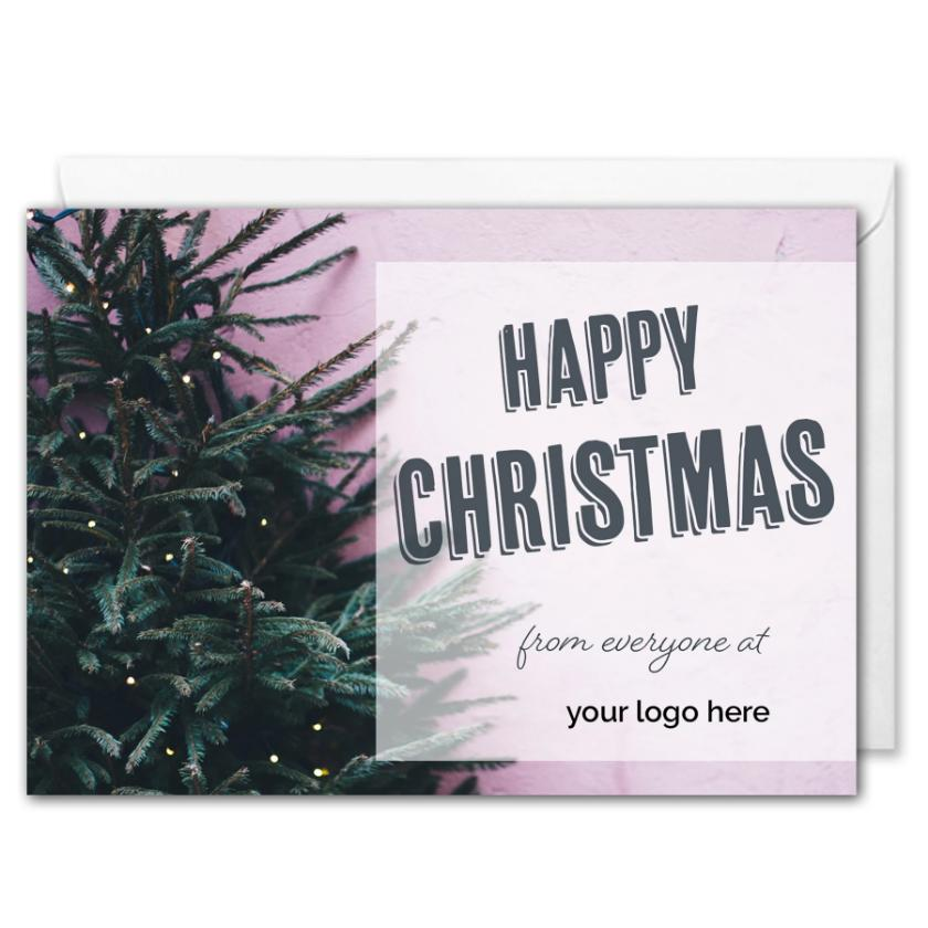 Personalised Logo Business Christmas Card - Christmas Tree