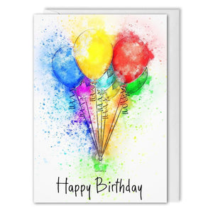 Balloons Personalised Corporate Birthday Card - B2B