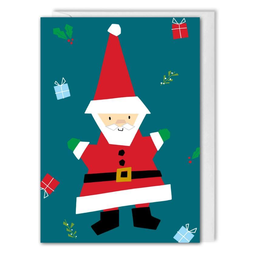 Custom Corporate Christmas Card - Santa