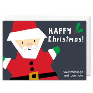 Custom Santa Corporate Christmas Card