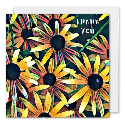 Personalised Business Thank You Card Daisies