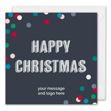 Load image into Gallery viewer, Business Happy Christmas Card - Blue Dotty