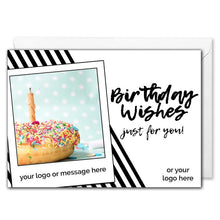 Load image into Gallery viewer, Personalised Corporate Birthday Card - Doughnut