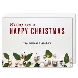Custom Logo Happy Christmas Card For Business